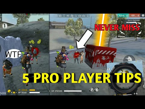 FREE FIRE | 5 PRO PLAYER TIPS FREE FIRE !!!! |TIPS FOR FREE FIRE !!!!