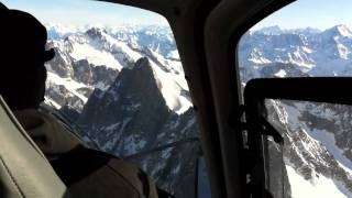 Helicopter lesson Mont Blanc