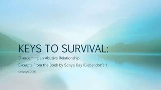 KEYS TO SURVIVAL by author Sonya Kay