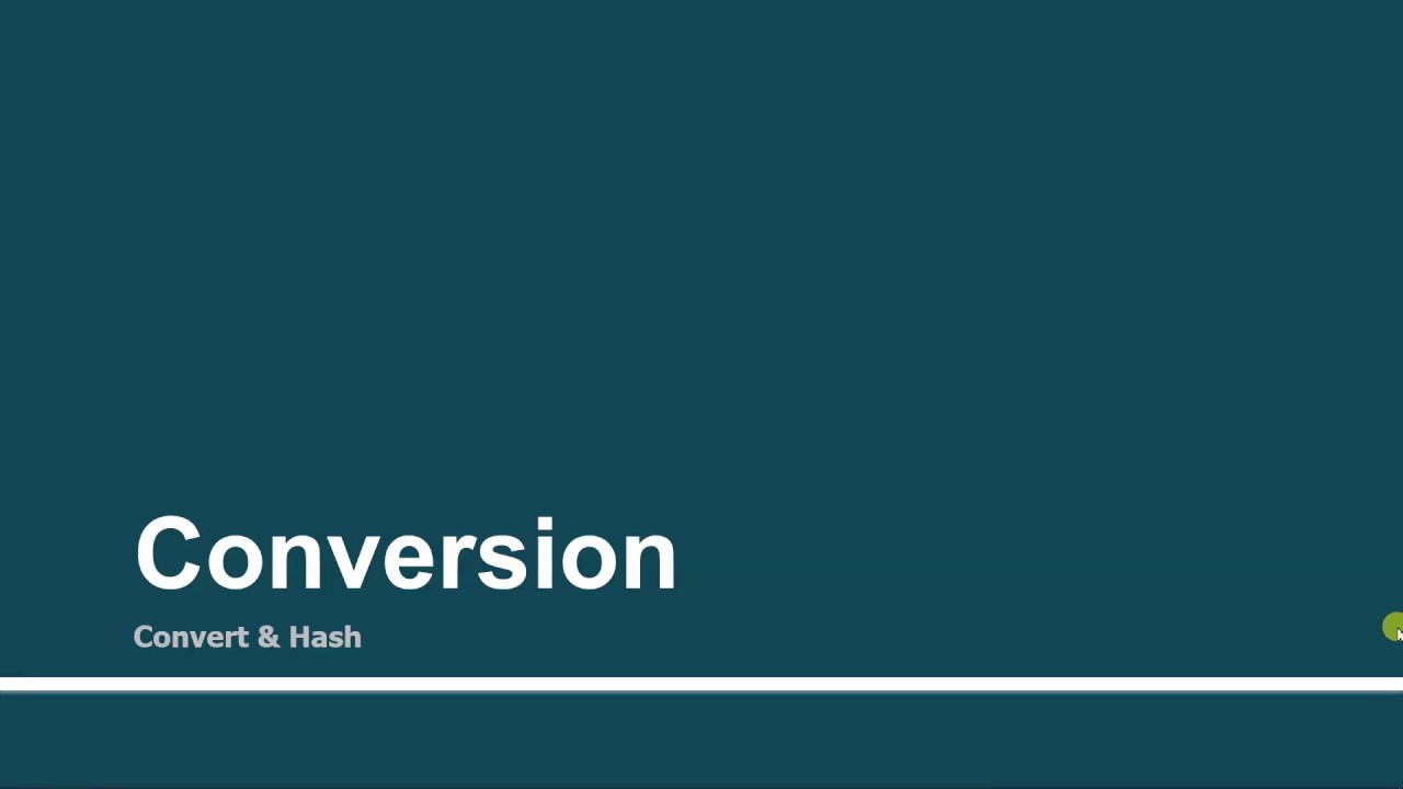 Conversion Convert Hash Part 47