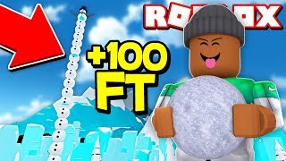 BUILDING A 100 FOOT SNOWMAN IN ROBLOX! (Roblox Christmas)