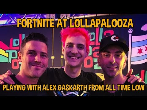 Fortnite At Lollapalooza!! Gaming With Alex Gaskarth! – Fortnite Battle Royale Gameplay