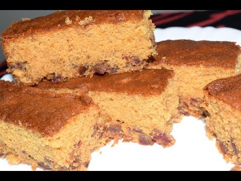 Date Cake Recipe | Simple & Spongy Cake With Dates | DATES CAKE / Eenthapazham Cake |