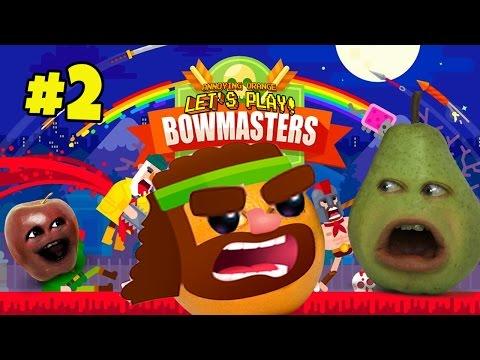 Annoying Orange Plays - Bowmasters #2 (w/ Midget Apple & Pear)