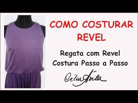REGATA COM ACABAMENTO COM REVEL - COSTURA COM CÉLIA ÁVILA