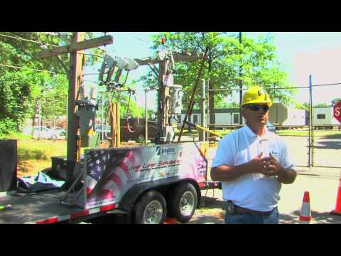 Pepco Demonstrates Dangers of Downed Live Wires  (VIDEO)