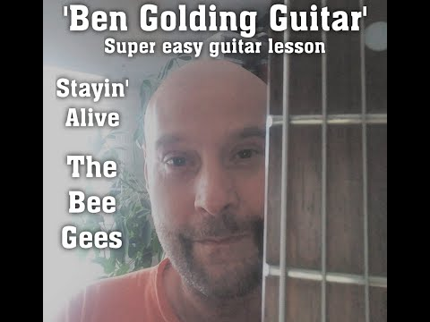 Stayin Alive Bee Gees Beginnerchord Guitar Lesson Youtube