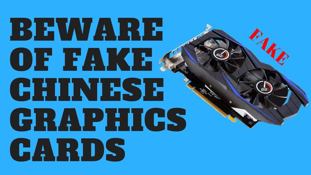 Beware of FAKE Chinese Graphics Cards