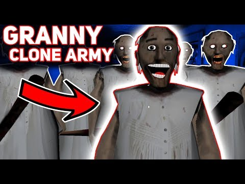 Granny HAS A CLONE ARMY!!! (So Many Grannys) | Granny The Mobile Horror Game (Modded Version)
