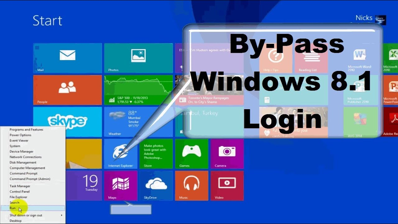 How To Disable Windows 8 Login Password!! & Windows 8.1