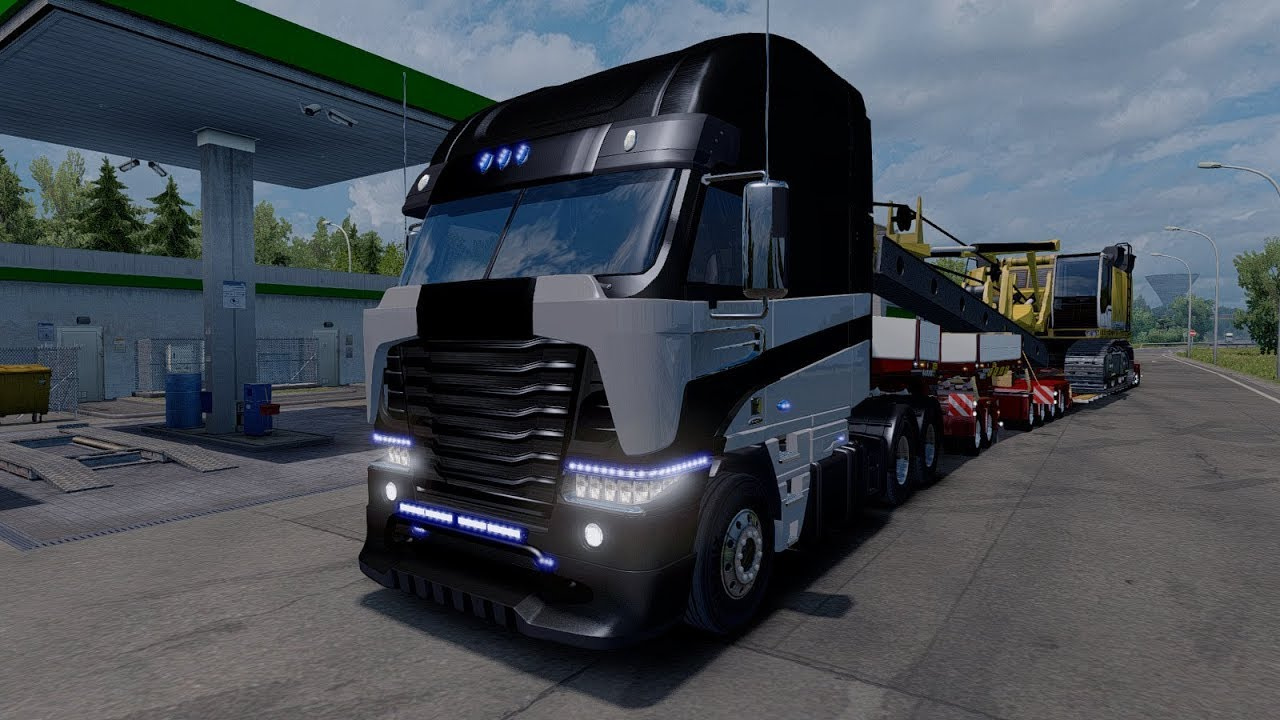 [ETS 2 Mod] Freightliner Argosy TF4 Galvatron | Euro Truck ... Freightliner Argosy Galvatron