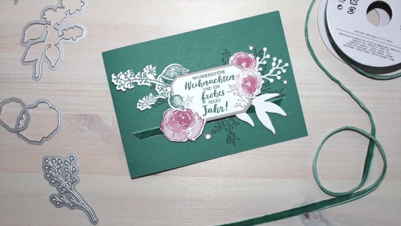 12 Karten Bis Weihnachten 2018 Tag 11 Tutorial Weihnachtskarte