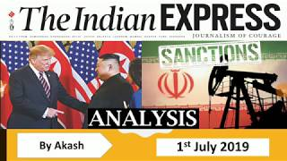 1 July 2019 - The Indian Express Newspaper Analysis हिंदी में - [UPSC/SSC/IBPS] Current affairs
