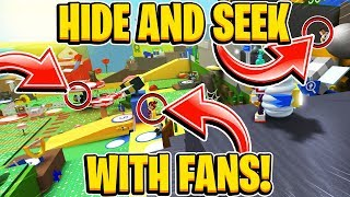 Hide and Seek With Fans In Roblox Bee Swarm Simulator
