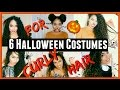 6 EASY, Last-Minute Halloween Costumes for Curly Hair! Part 1| Lana Summer