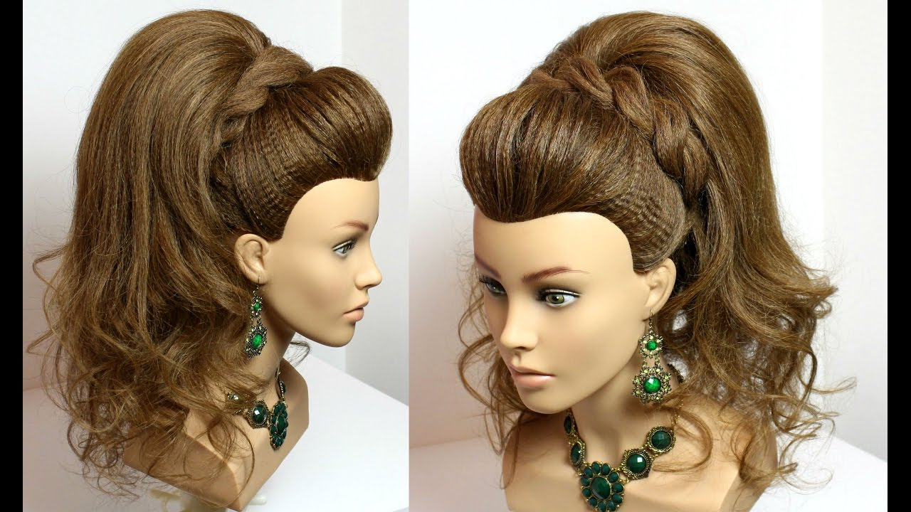 Wedding prom hairstyle  for long  hair  tutorial  vohairblog