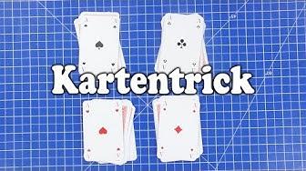 Einfache Zaubertricks mit erklärung auf deutsch zum nachmachen | Der ASS-Kartentrick zum nachmachen