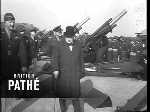 Churchill Visits Us Marines (1944)