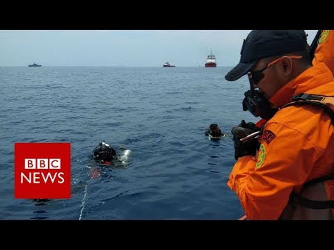 Lion Air crash debris spotted in sea - BBC News
