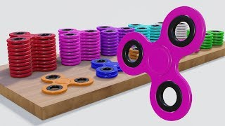 Colors and Numbers for Kids, Learn Colors and Numbers with fidget spinner toy