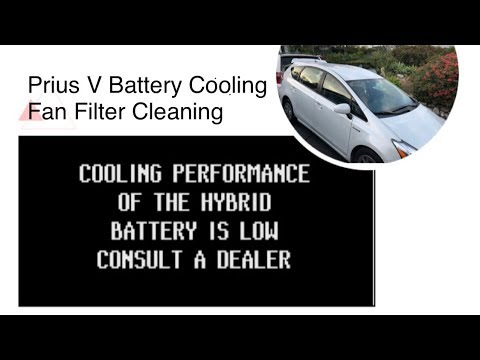 Prius V (Wagon) Battery Cooling Fan Filter Cleaning. Save $350+ with this DIY