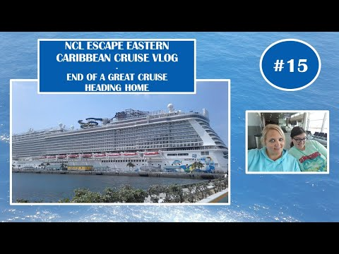 NCL Norwegian Escape May6 2017 Cruise Vlog Ep15 - Disembarkation Day- Heading Home - Excited Puppy!