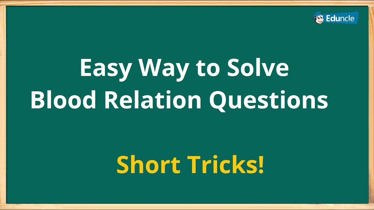 blood relationship question in hindi