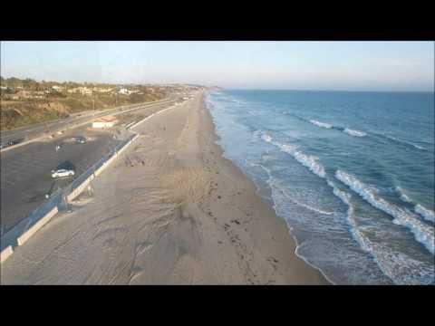Drone Flight Over Zuma Beach