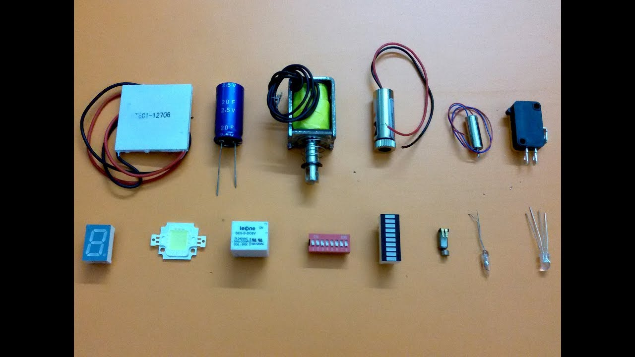 How to use electronics components and understand basic function ...