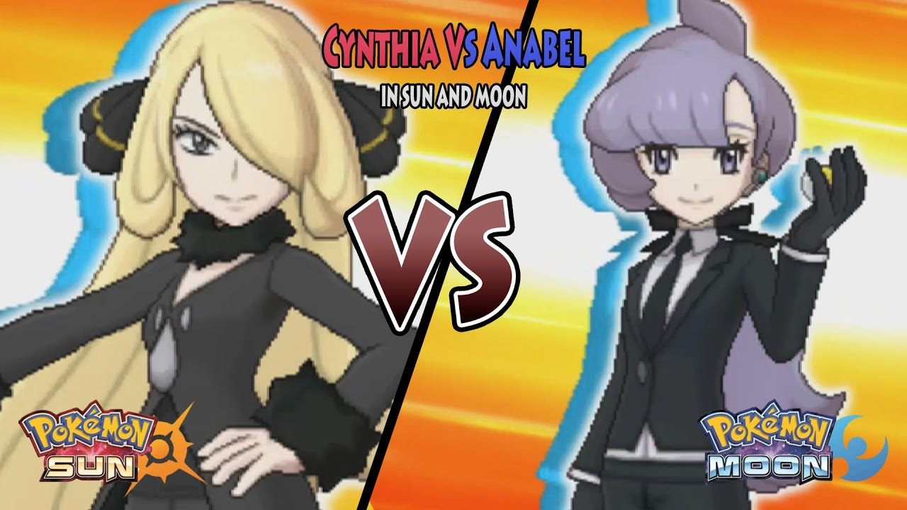 Pokemon Sun and Moon: Champion Cynthia Vs Anabel (Battle Tree Anabel