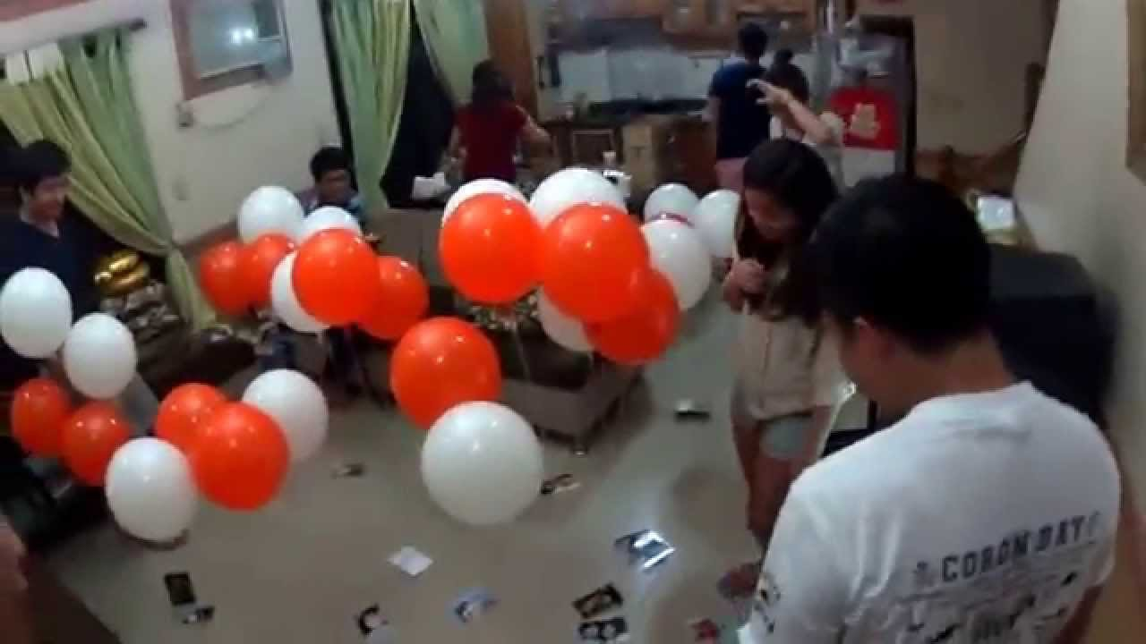 Surprise Birthday Party for my Boyfriend with Balloons YouTube