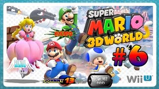 Super Mario 3D World GAMEPLAY a 4 Jugadores - Parte 6 - Mundo 3