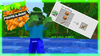 MAKING A SWORD TO DEFEND MYSELF IN MINECRAFT!!