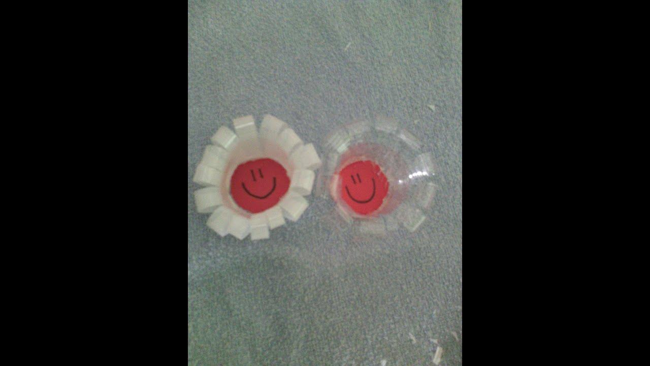 Manualidades con vasos desechables flor youtube - Manualidades con vasos ...