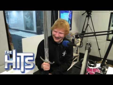 Ed Sheeran Loses His MIND Over Jon Snow's Sword!