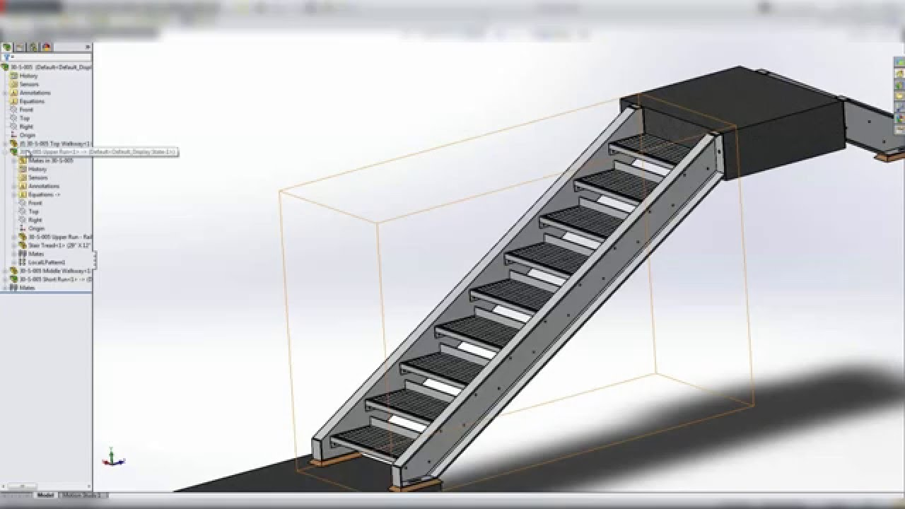 Solidworks Training   Tutorial: Structural Steel Stairs Pt. 3 Of 5 And CAD  Files   YouTube
