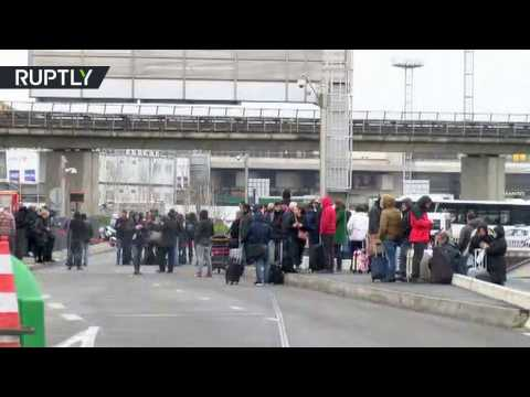 RAW: Outside Orly airport after evacuation due to attack