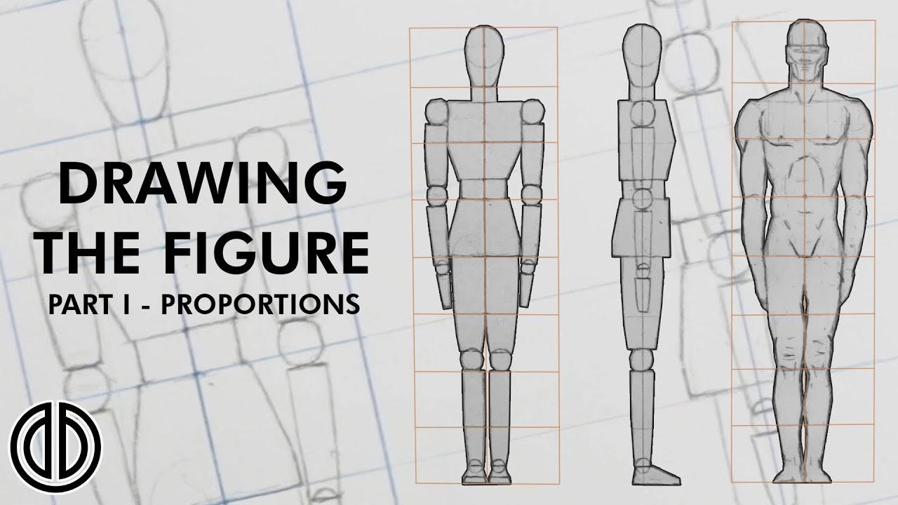 drawing the human figure! - proportions - tutorial [part i] - youtube  youtube