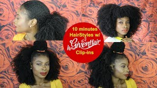 Quick and Easy -10 minutes HairStyles w/ HerGivenHair Clip-ins