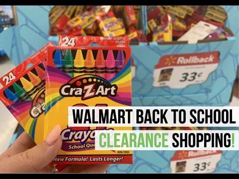 Walmart Back to School Sales 2019