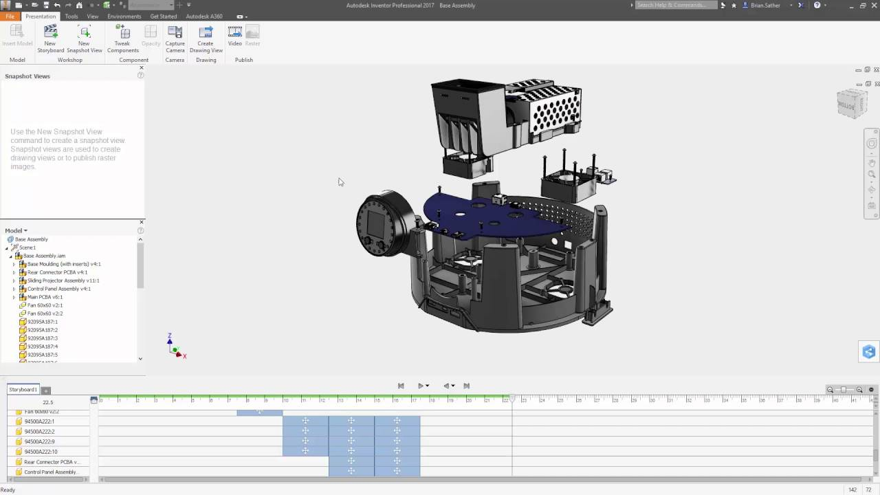 autodesk inventor 2017 exploded views and presentation youtube rh youtube com