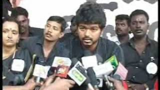 Nov 16 th: Ilayathalapathy Vijay ~  Fasts for Tamils of Sri Lanka thumbnail