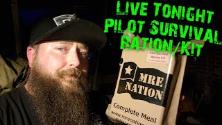 MRE Nation Pilot Survival Kit/Ration 🔴 Oldsmokey Live