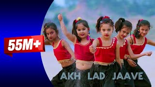 Akh Lad Jaave With Lyrics | Loveyatri | Aayush S | Warina H |Badshah, Dance cover kids  Rewa sidhi