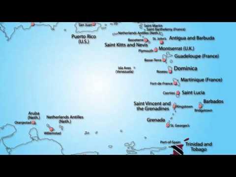 Animated Map of Trinidad & Tobago