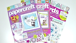 Haul Revistas de Cardmaking |Papercraft essentials - Simply Cards and papercraft