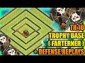 Clash Of Clans New Town Hall 10 TH10 Trophy Base 2017 Defense Replays ANTI 2 STAR ANTI ALL