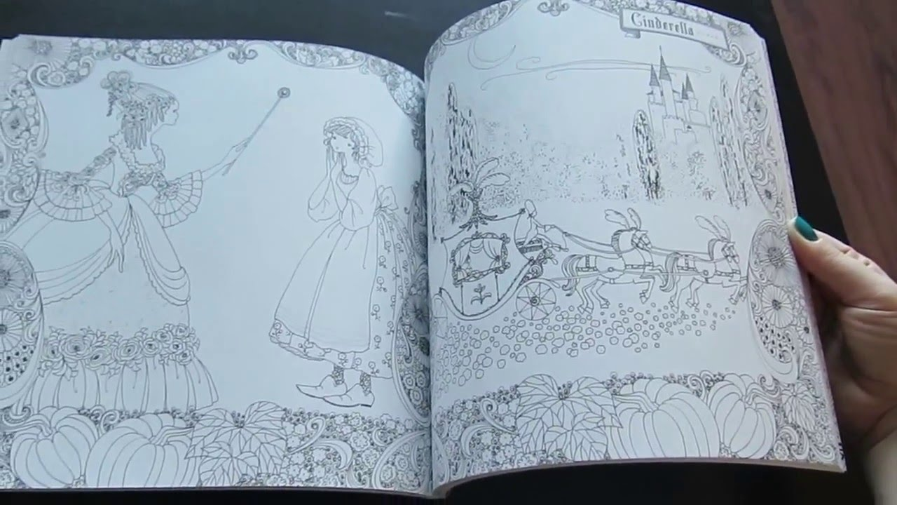 Flip through of the Fairy Tale Colouring Book by Tomoko Tashiro ...