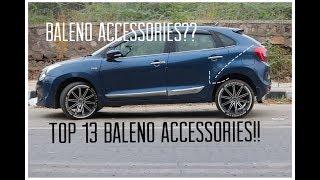 Baleno Modifications and accessories   Baleno modified   cheap and latest accessories Video