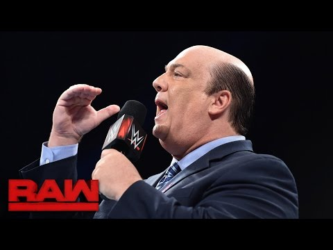 Paul Heyman reveals that Brock Lesnar is ready for Goldberg: Raw, Oct. 10, 2016